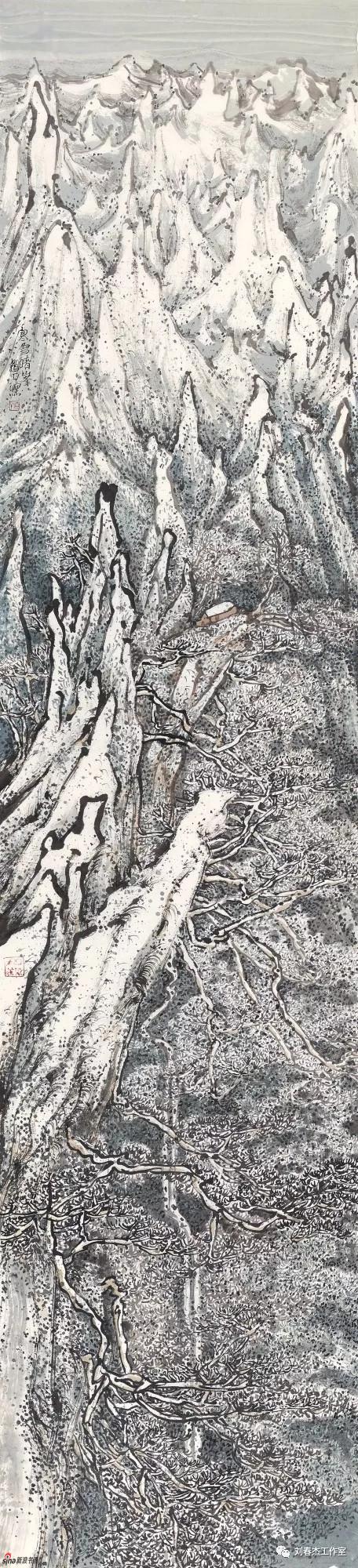 寒雪晴峰 丨232cm×53cm丨2018年