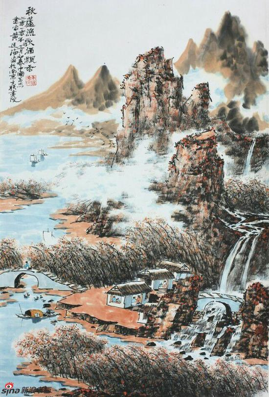 《秋芦渔歌酒飘香》,69cmx46cm,2010年,黄廷海作