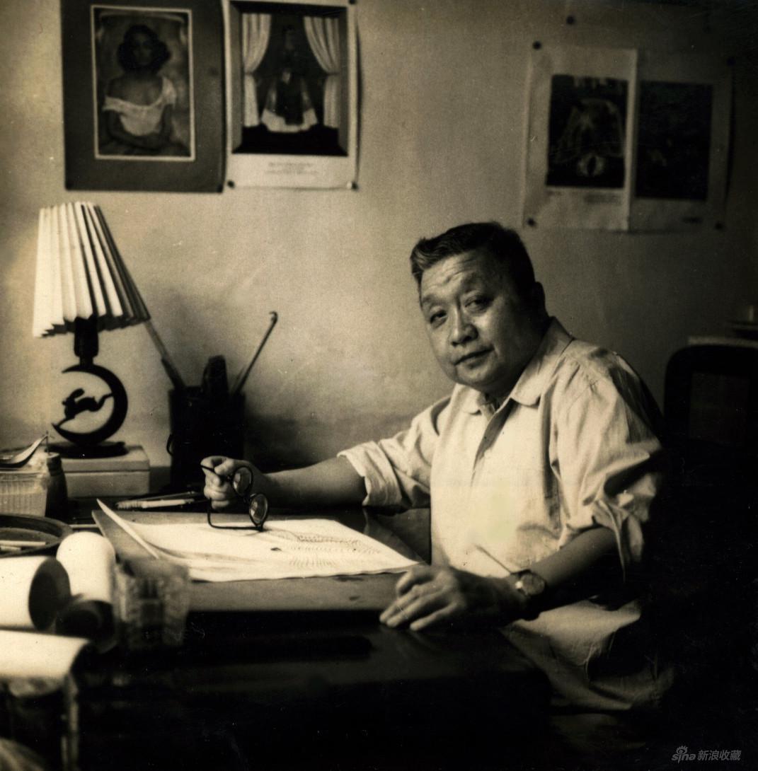 1957年,张光宇在在煤渣胡同中央美院宿舍
