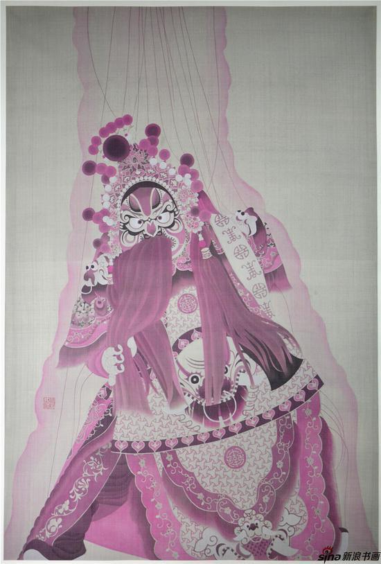偶,120×80cm,绢本工笔,2016