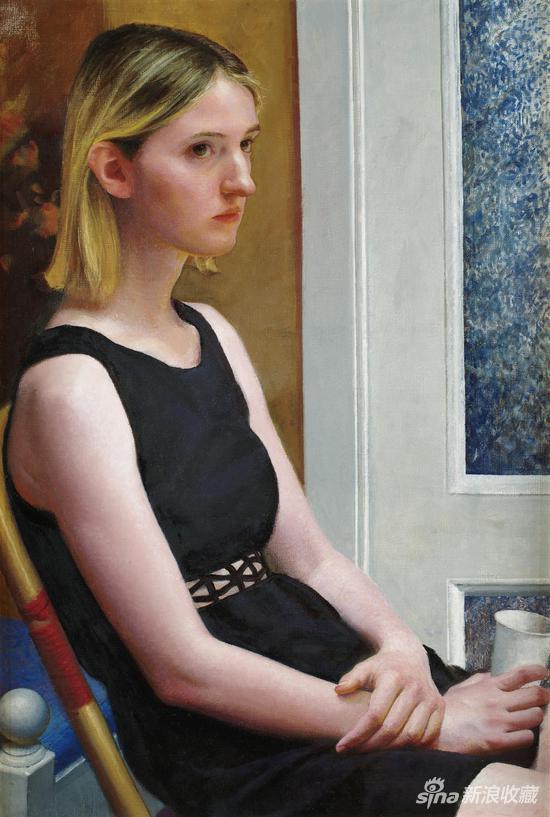 徐芒耀《门前的维维亚纳》布面油画 73×50cm 2018年