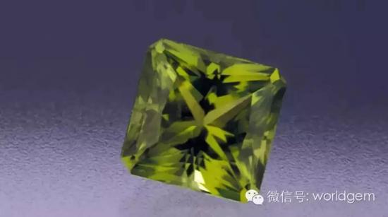 橄榄石典型的黄绿色