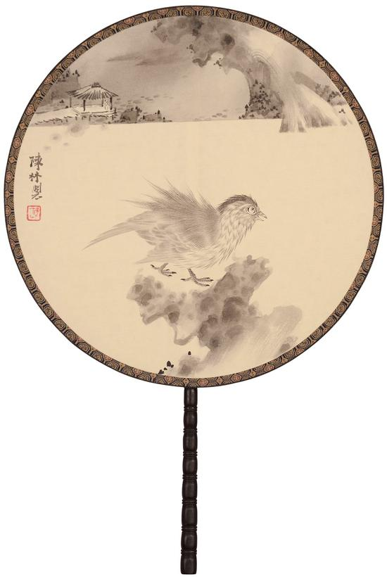 陈林《畅神·月》30.5cm×30.5cm  绢本设色  2018年