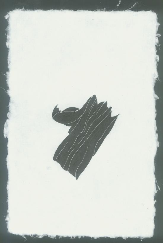 萧搏,《独立的形状》,纸本中性墨水,28.5×19cm,2017
