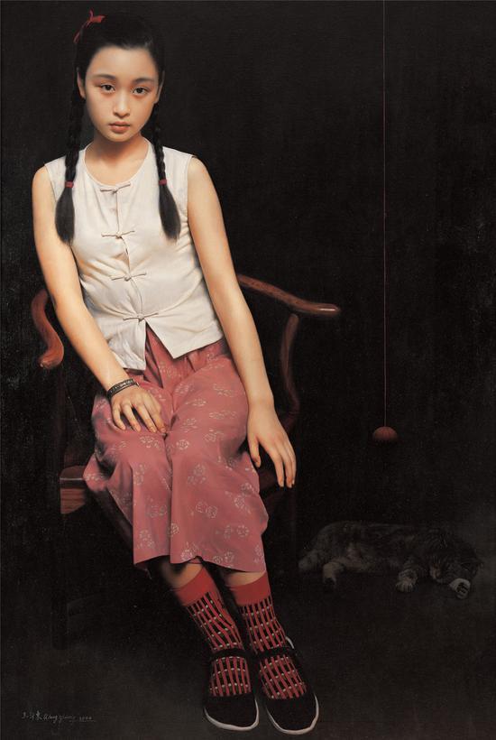 王沂东 《蝉鸣》150x100cm 布面油画 2000