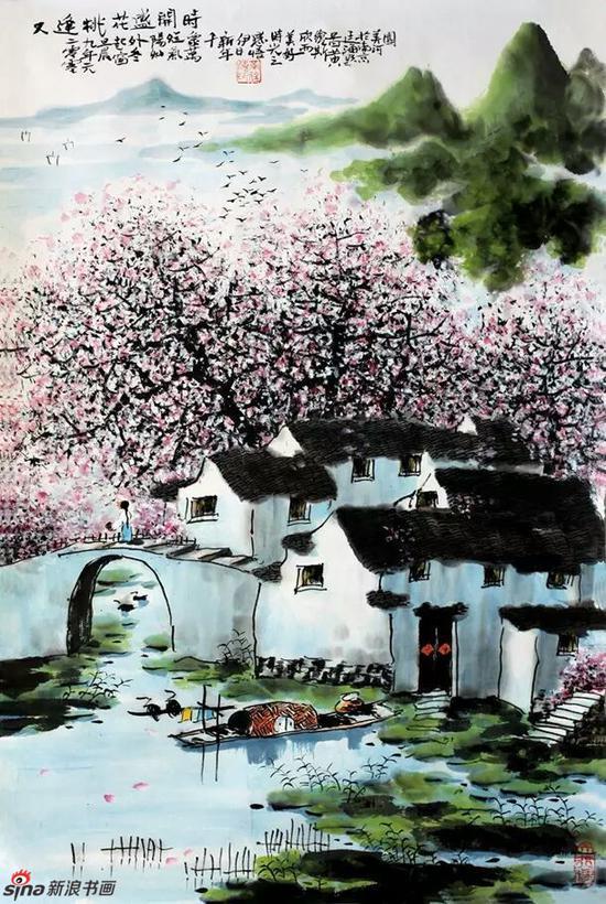 《又逢桃花盛开时》,69cmX46cm,2006年,黄廷海作