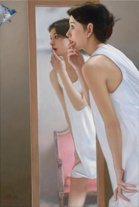 《无处不在》布面油画-90x60cm,2018