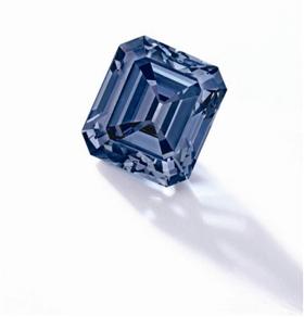 5克拉艳彩蓝色钻石配钻石戒指(2018年苏富比1.08亿港元成交)