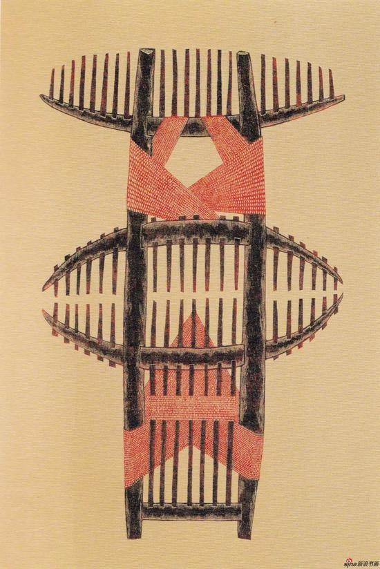 《自缠》,1994年,74*69cm,综合材料