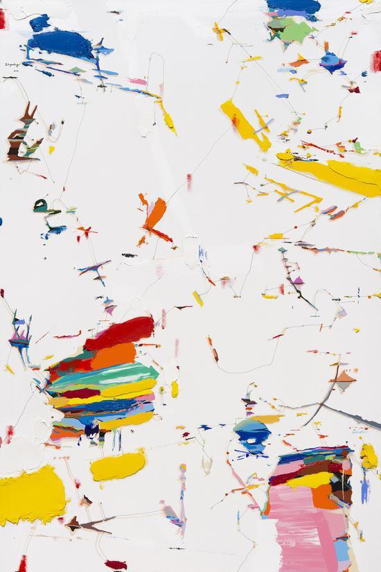 朱佩鸿《我的空间 2018-5》,120×180cm,布面油画与丙烯,2018