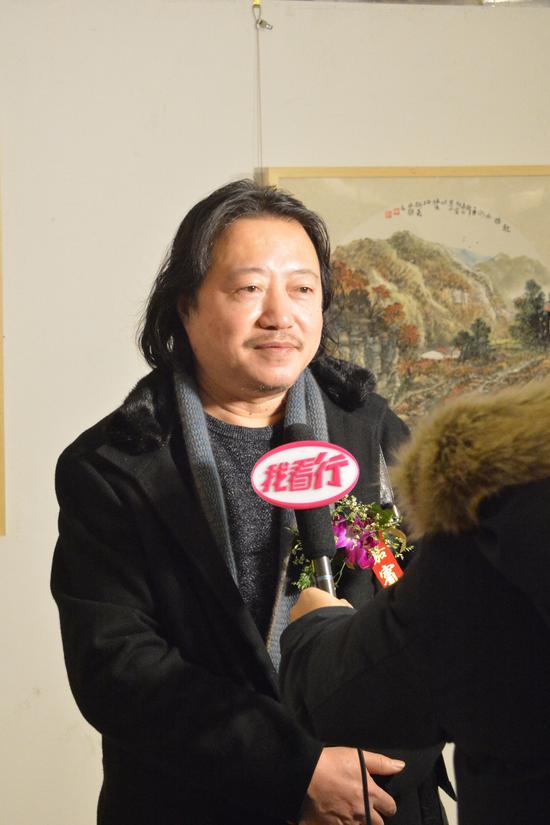 中国国家画院副院长、中国致公画院院长纪连彬接受采访