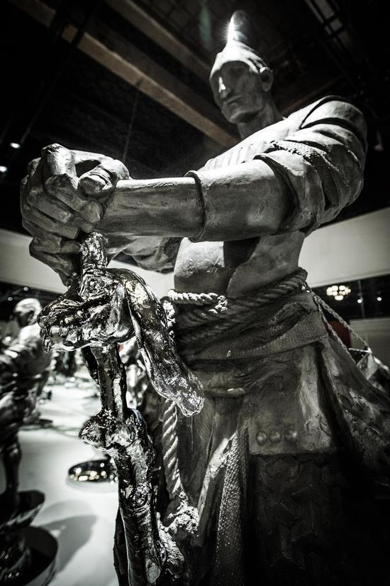 展览现场之作品《十二生肖》