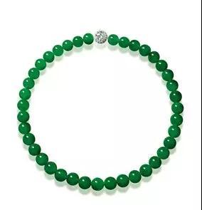 缅甸天然翡翠珠配钻石颈链   成交价: 44,840,000港币