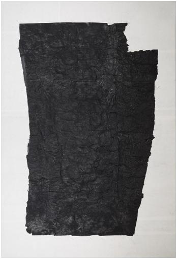 Yang Jiechang 杨诘苍 Monochrome 黑白,1989-1990 Ink,gauze,xuan paper 墨,纱布,宣纸 86 5/8 × 59 1/8 in 220 × 150 cm