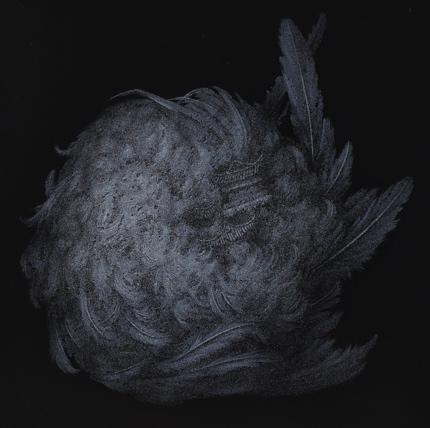 《楼与翅膀》布面丙烯,100 x 100 cm,2018