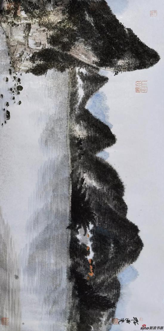 孙洪 桂林写生之一 33cm×67.3cm 纸本设色 2018