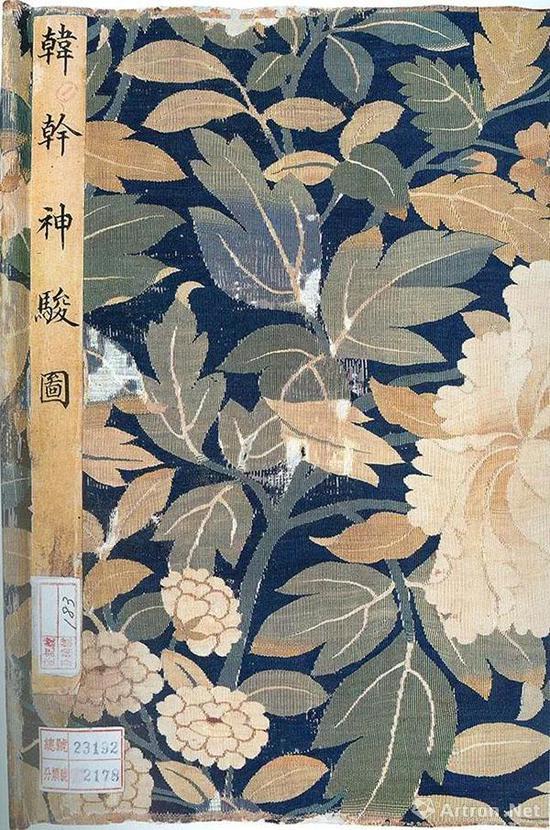 宋 牡丹纹包首   纵28.1厘米,横21.2厘米   辽宁省博物馆藏