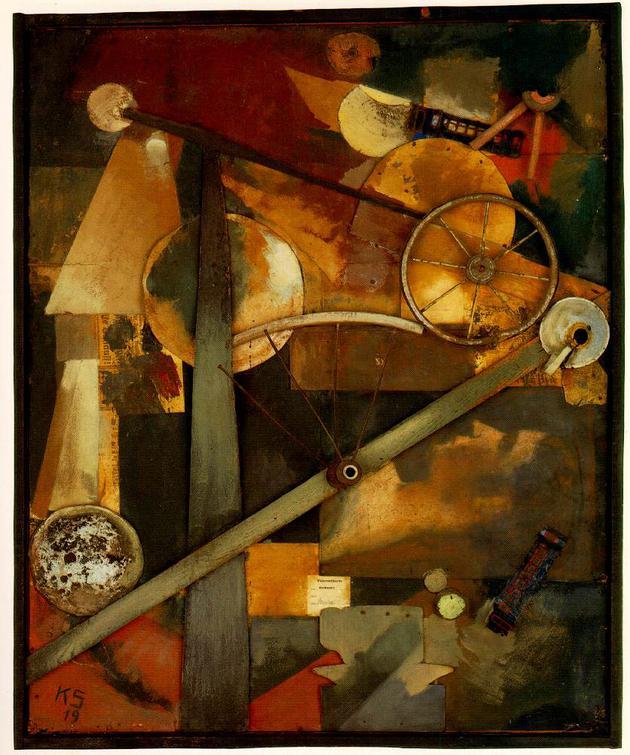 科特·施维特,贵妇人的构成,Kurt Schwitters, Construction for Noble Ladies, 1919