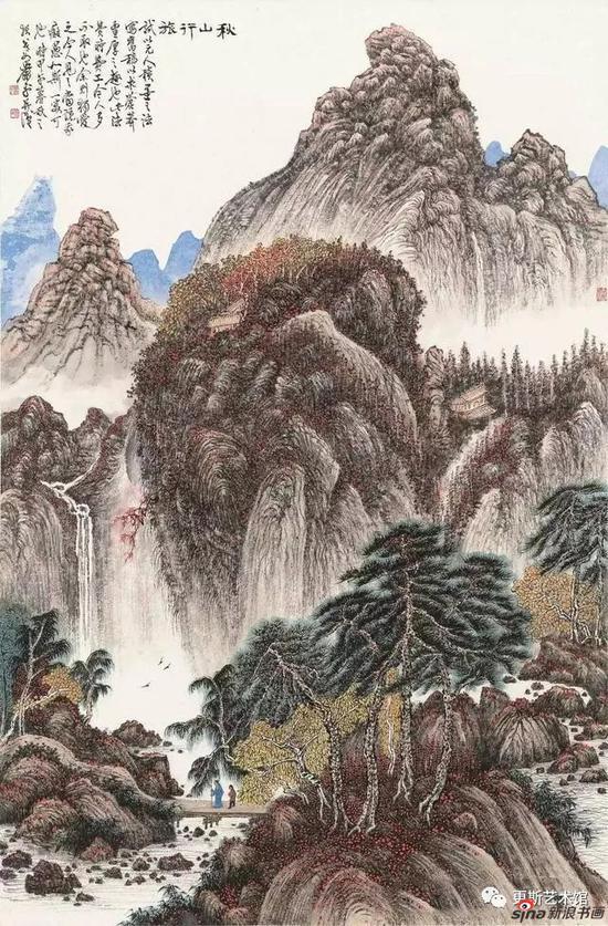 《秋山行旅》