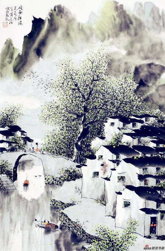 皖南新绿(69×46厘米,1999年)