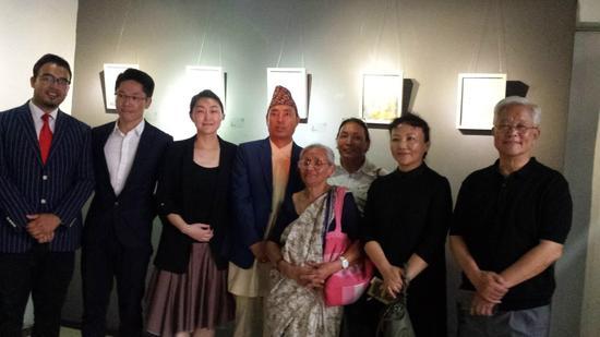 """《涵化》2018国际青年创意文化周——中尼文化交流艺术展""""在尼泊尔加德满都的PARK GALLERY美术馆展出"""