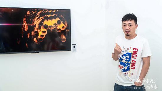 艺术家李怒讲解作品 巢