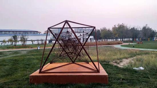王成普作品 《√2于空间-J3 》 300×200×200cm 铁