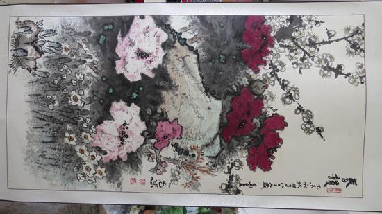 《春韻》135x67 杨先让