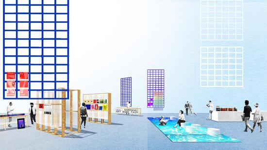 A Day Studio制作的abC上海艺术书展现场效果图