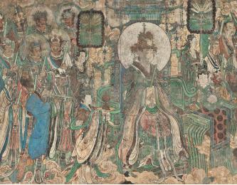 《朝元图》局部 元代壁画 (位于三清殿)