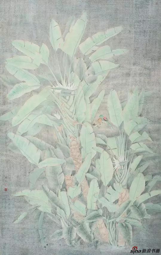 绿色记忆 纸本 140×220cm 2010年