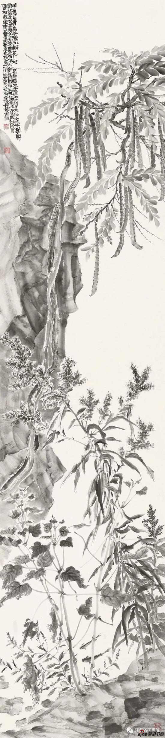 刘毅 《齐云·杂花之七》 234cm×53cm