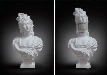 李洪波作品 教具系列 - 西洋美女 尺寸可变 纸雕 2015
