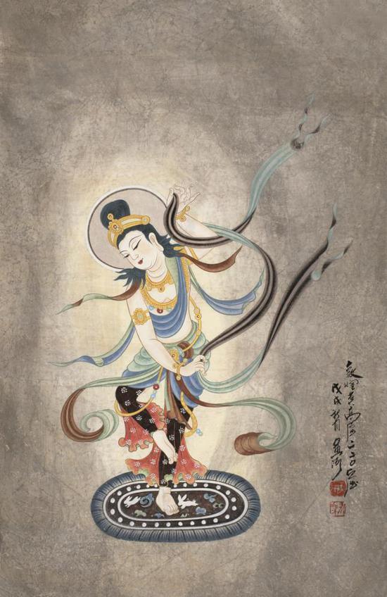 著名相声演员李金斗收藏黄有为壁画一幅