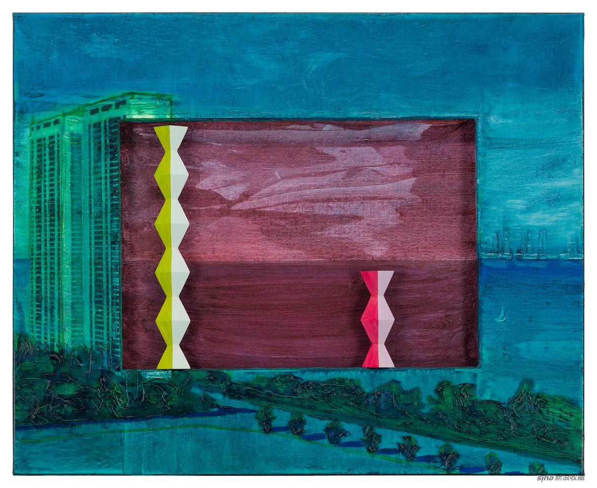 布朗库西公寓,油彩、画布、木,65 × 80 × 5cm,2020
