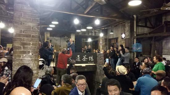开幕式现场 批评家王林致辞