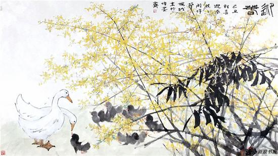 《迎春》180×97cm