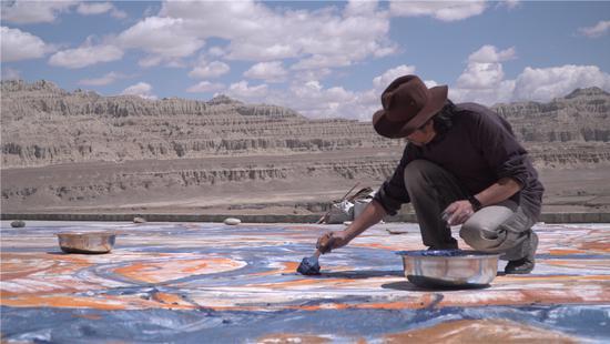 2017年西藏阿里地区札达县古格王朝遗址创作