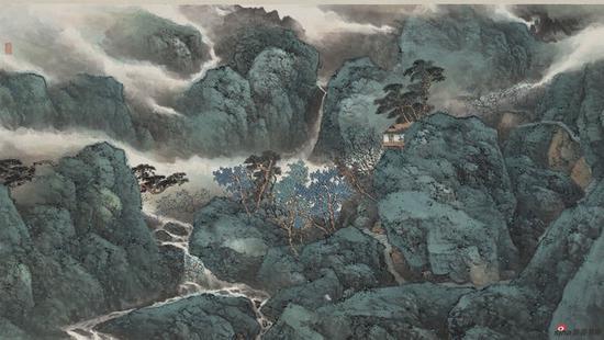 听乐震文讲述把最好的作品捐给刘海粟美术馆的心路历程