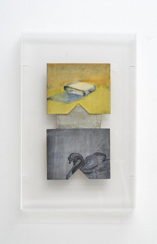 井士剑 JING Shijian 《亦石亦书 No.1 | Both Stone and Book No.1》, 2017年   纸本水彩 Watercolor on paper  艺术家和阿拉里奥画廊 Artist and ARARIO GALLERY