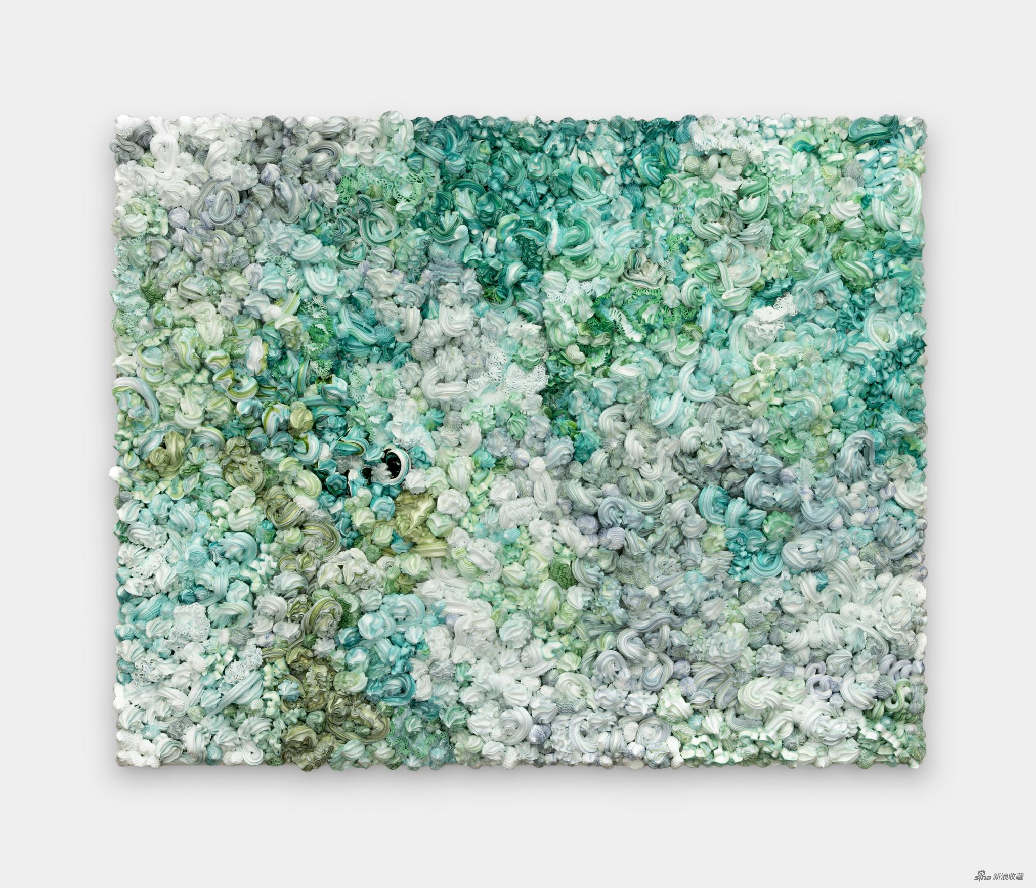 徐震®  XU ZHEN® 《天下-1136FL2112》 Under Heaven-1136FL2112 布面油画,铝 Oil on canvas,Aluminum,100 × 80 cm,2021 ©艺术家和没顶画廊