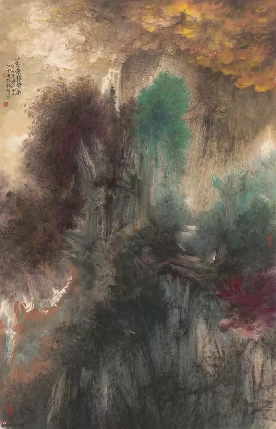 万叶秋声图,148x95cm,纸本