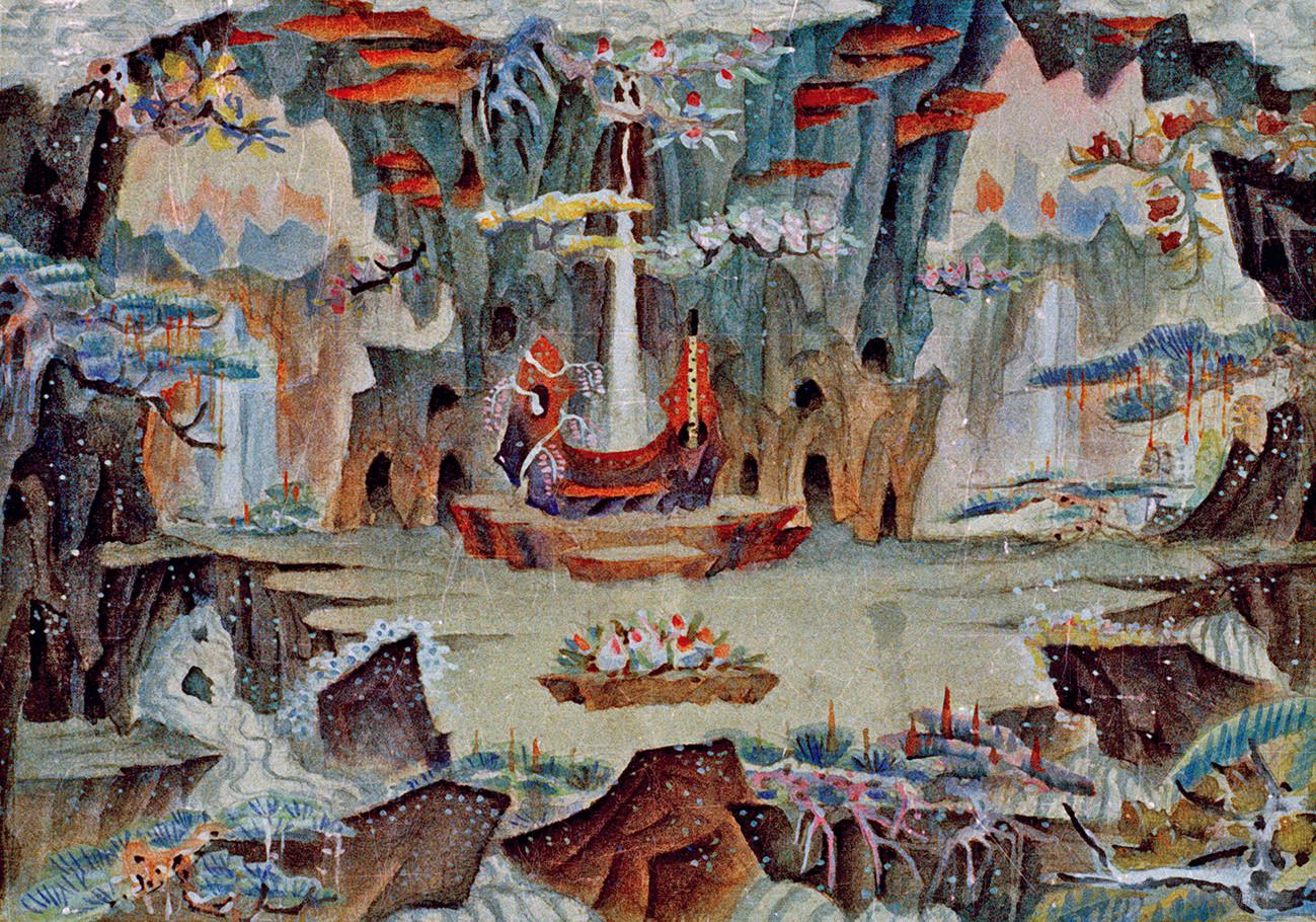 花果山水帘洞内景,1960年