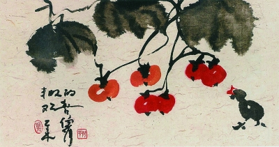 丰收的欢喜中国画 倪萍