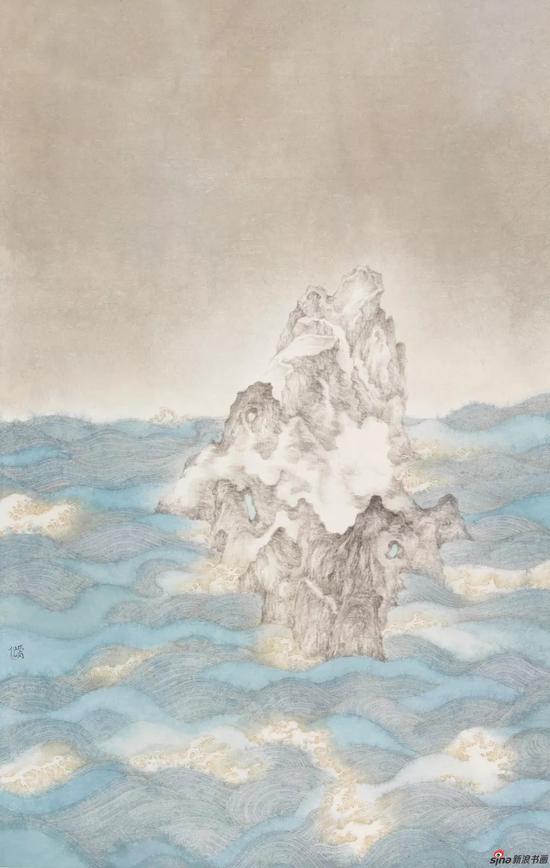 透月岩 160×105cm 2017