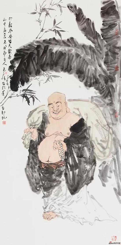 《竹报平安皆大欢喜》 168cm×68cm 徐惠泉 江苏省中国画学会副会长
