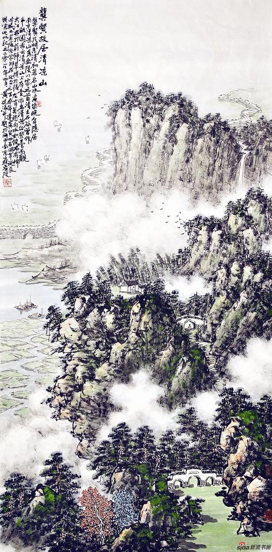龚贤故居清凉山(136×68厘米,2018年)