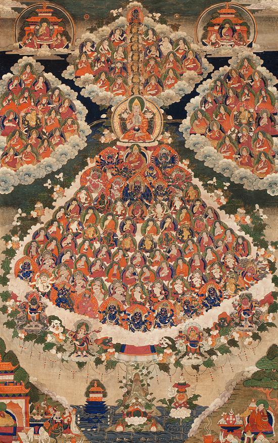 皈依境唐卡(18世纪)