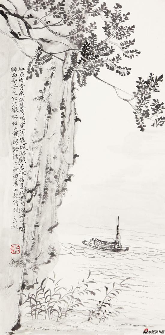 杂树浮清远 60cm×30cm 2013