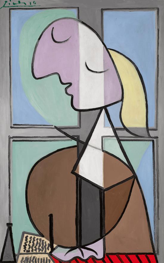 毕加索《女子侧面半身像(书写的女子)》二十年来首次现身拍场